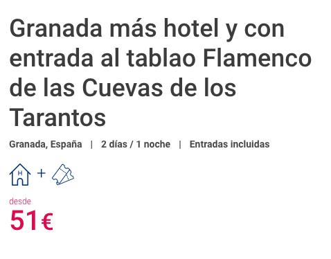 ESCAPADA GRANADA TABLAO FLAMENCO DE LAS CUEVAS DE LOS TARANTOS