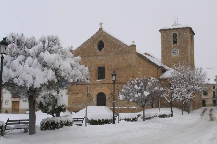 María Los Velez Iglesia con nieve
